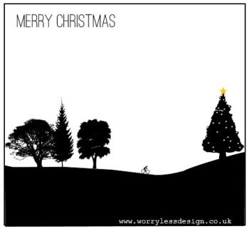 Cycling Christmas Card - Christmas cycling man