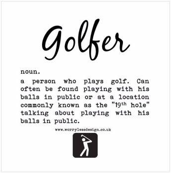Golfer - Dictionary Definition