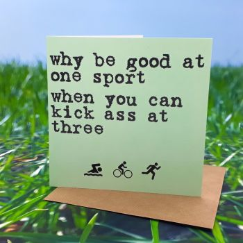 Why be good at one sport.....