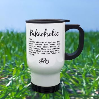 Travel Mug - Bikeoholic