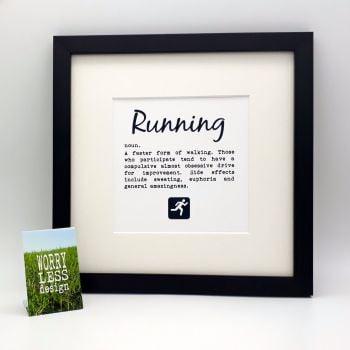 Framed Print - Running - definition