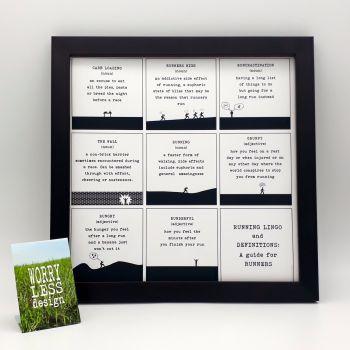 Framed Print - Running Lingo
