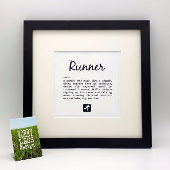 Framed Print - Runner: definition