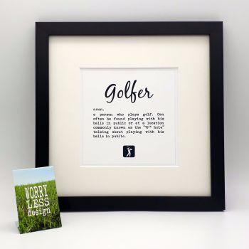 Golfer Definition - Framed Print