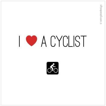 I heart a cyclist