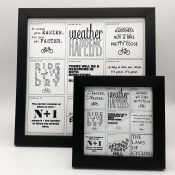 Framed Print - The Laws of Cycling