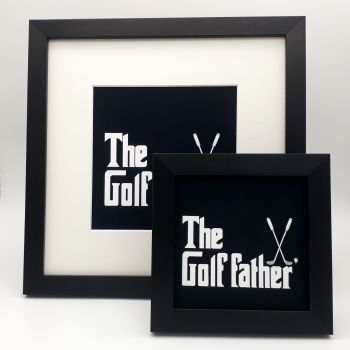The Golf father - Framed Print