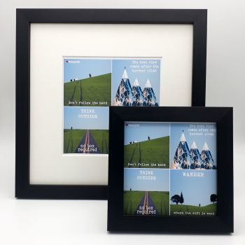 Framed Print - Walking Quotes