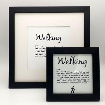 Framed Print - Walking Definition
