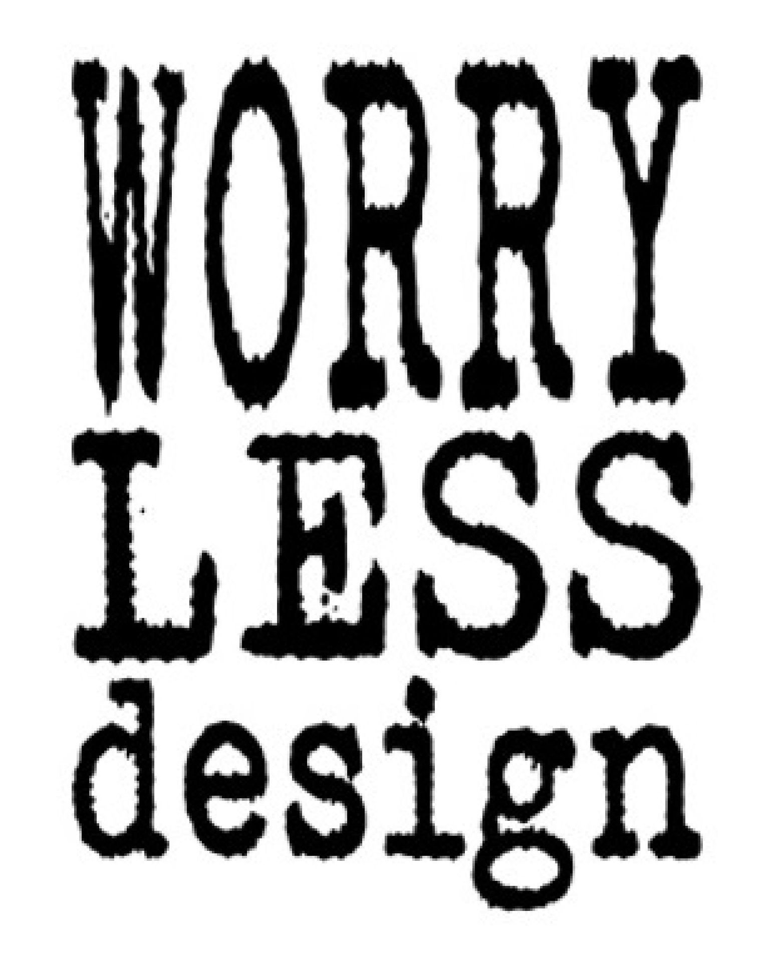 Worry Less Design Logo