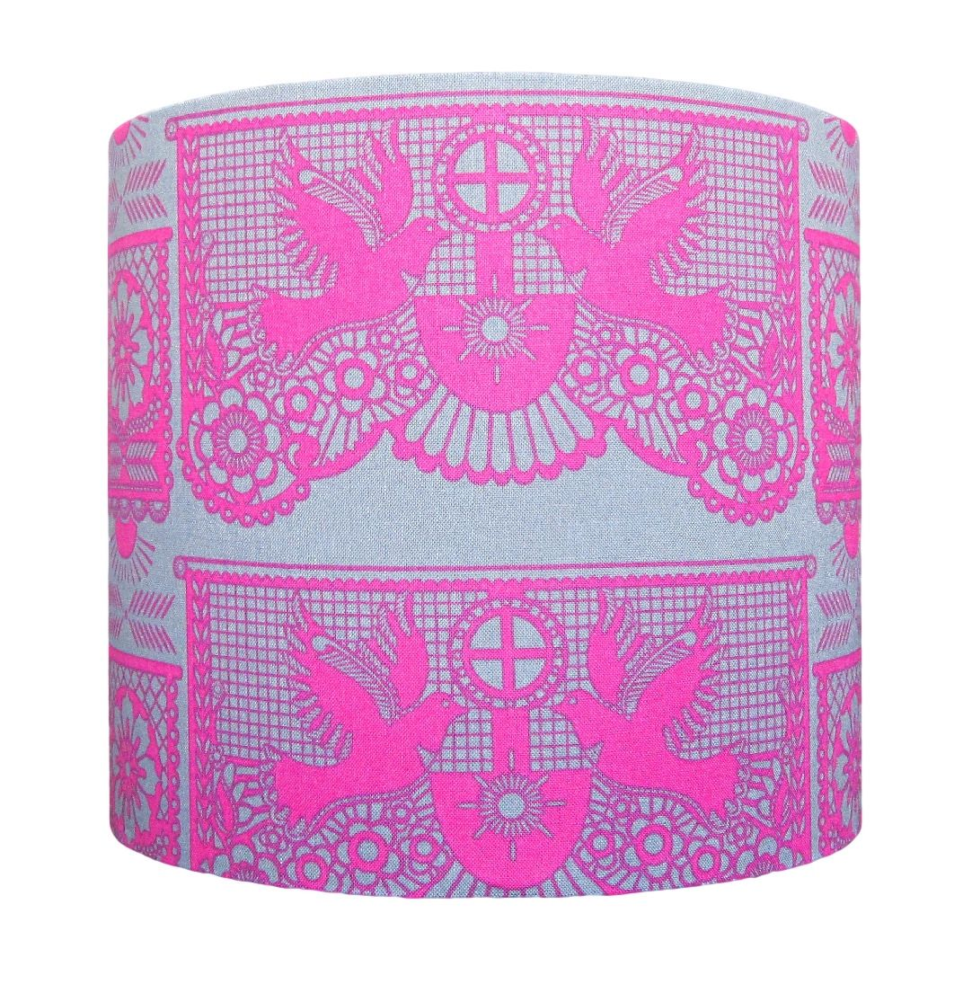 Pink dove lampshade