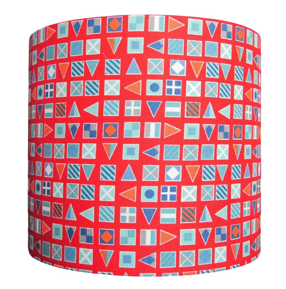 Nautical flag lampshade perfect for children