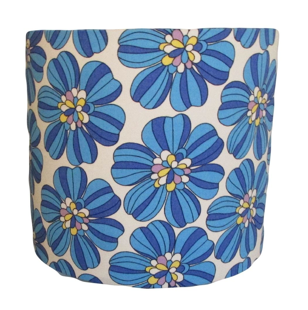 Lampshade with bold retro flowers