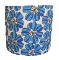 Retro blue flower shade