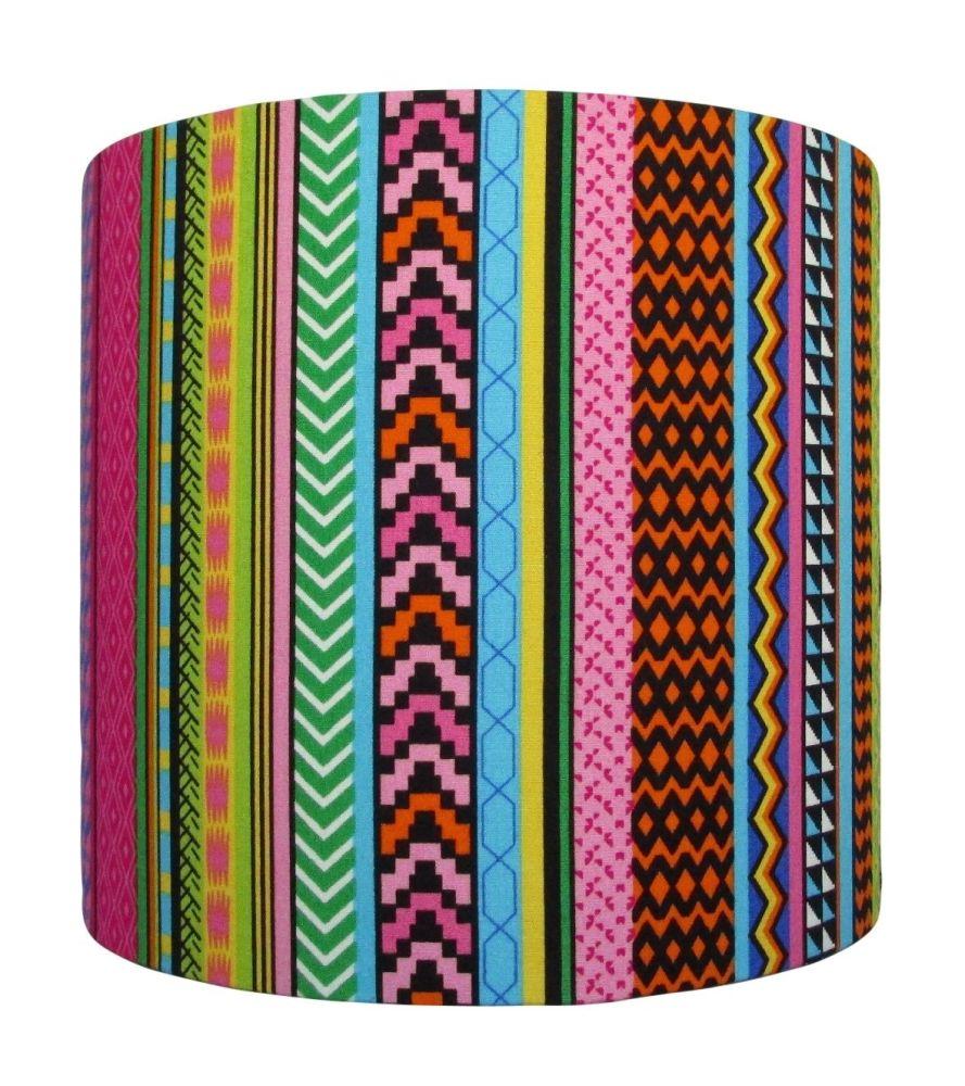 Safari stripe lampshade