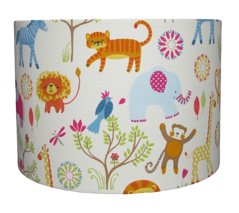 African animal lampshade for child's room 30cm diameter