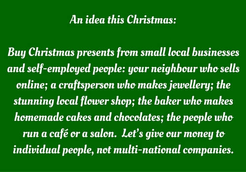 christmas quote - buy local
