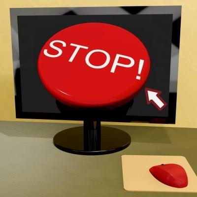 stop using computer