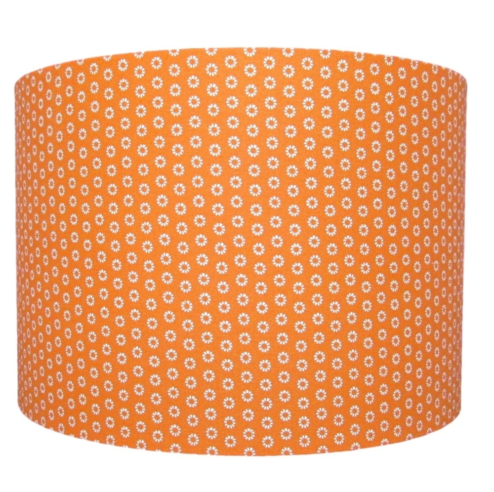 Orange marguerite lampshade