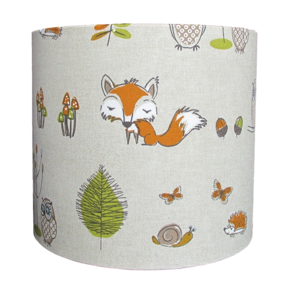 Woodland fox lampshade for a child