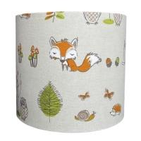 Woodland fox lampshade