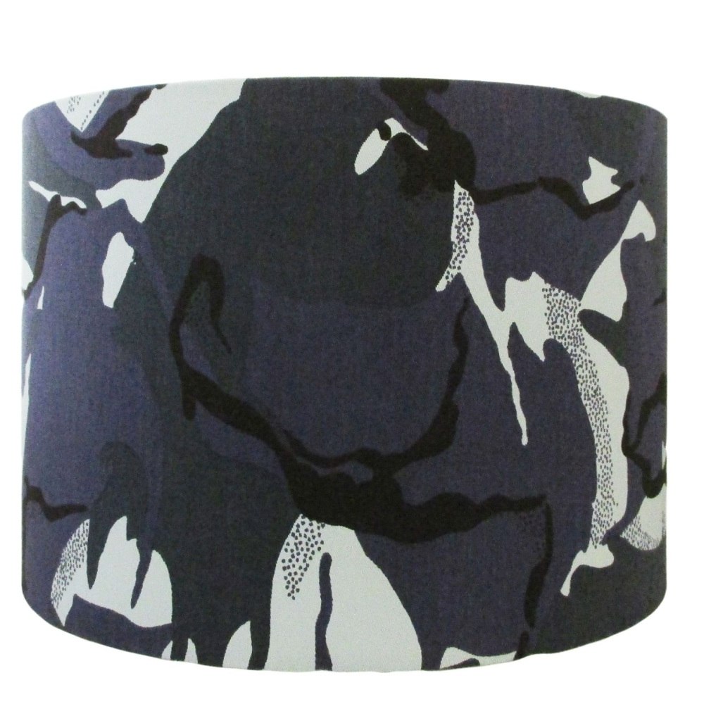Urban camouflage lampshade handmade in the UK