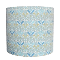 William Morris style lampshade with stylised flowers