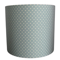 Soft green polka dot lampshade