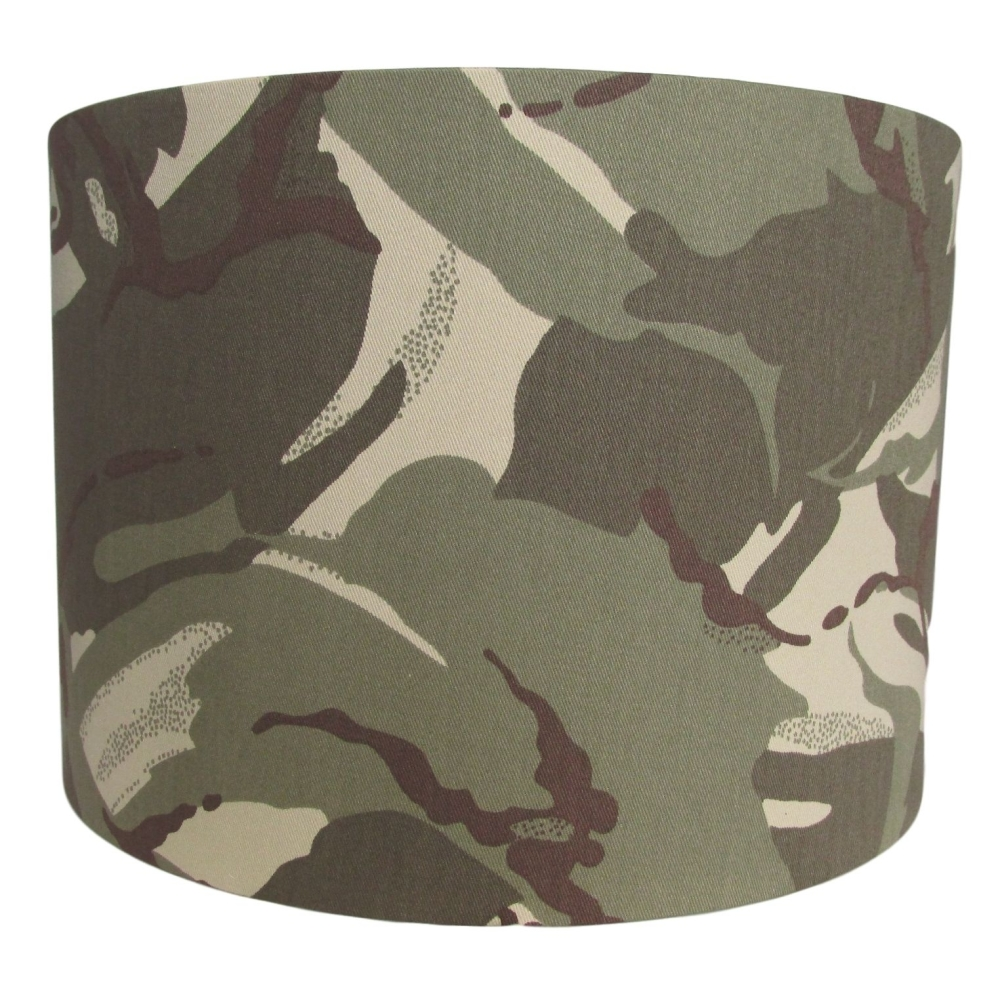 Desert camouflage handmade lampshade
