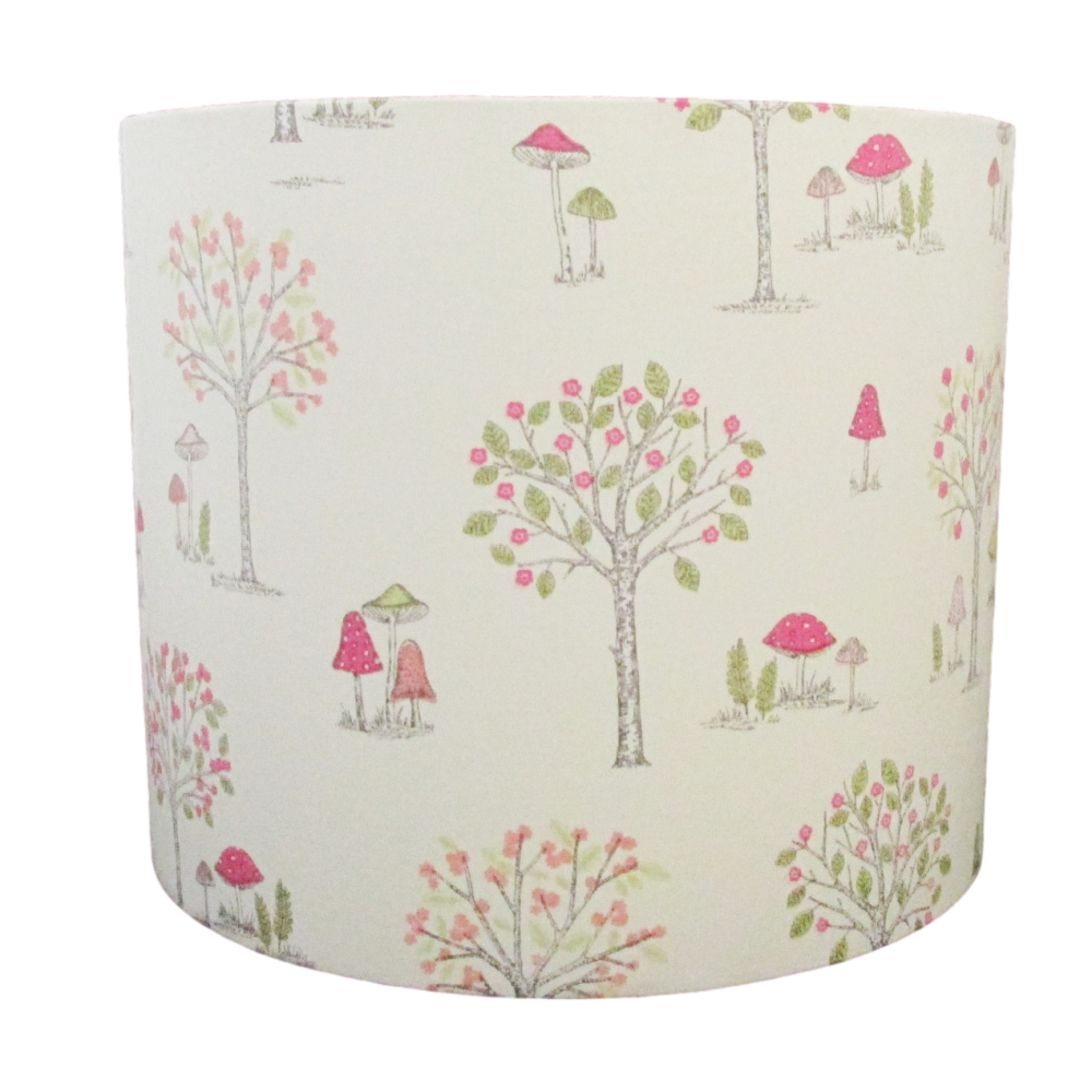Trees and toadstools lampshade fun for child