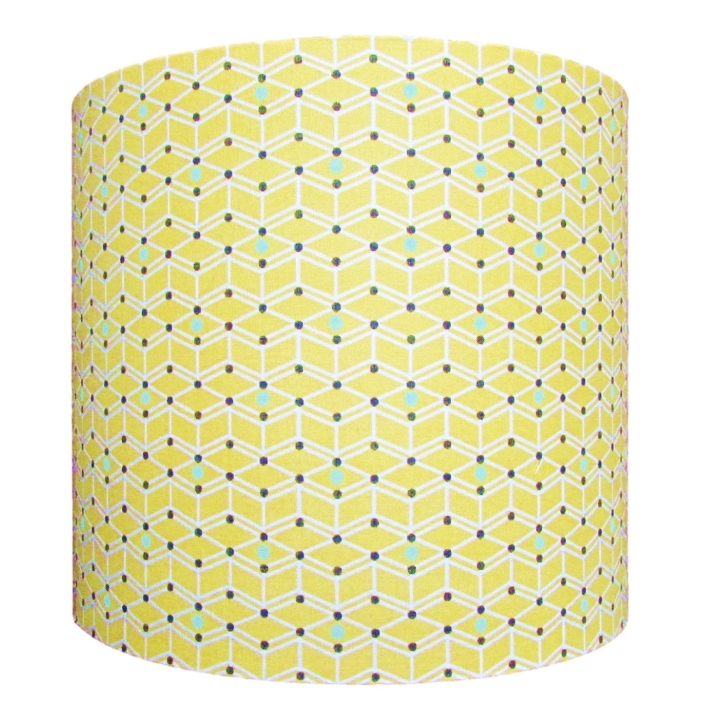 Yellow geometric pattern lampshade