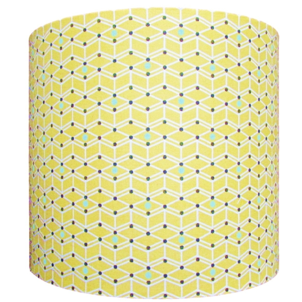 Yellow geometric pattern lampshade NOW £20