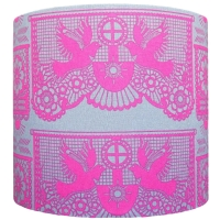 Pink dove 20cm diameter lampshade (for lamp) NOW £20
