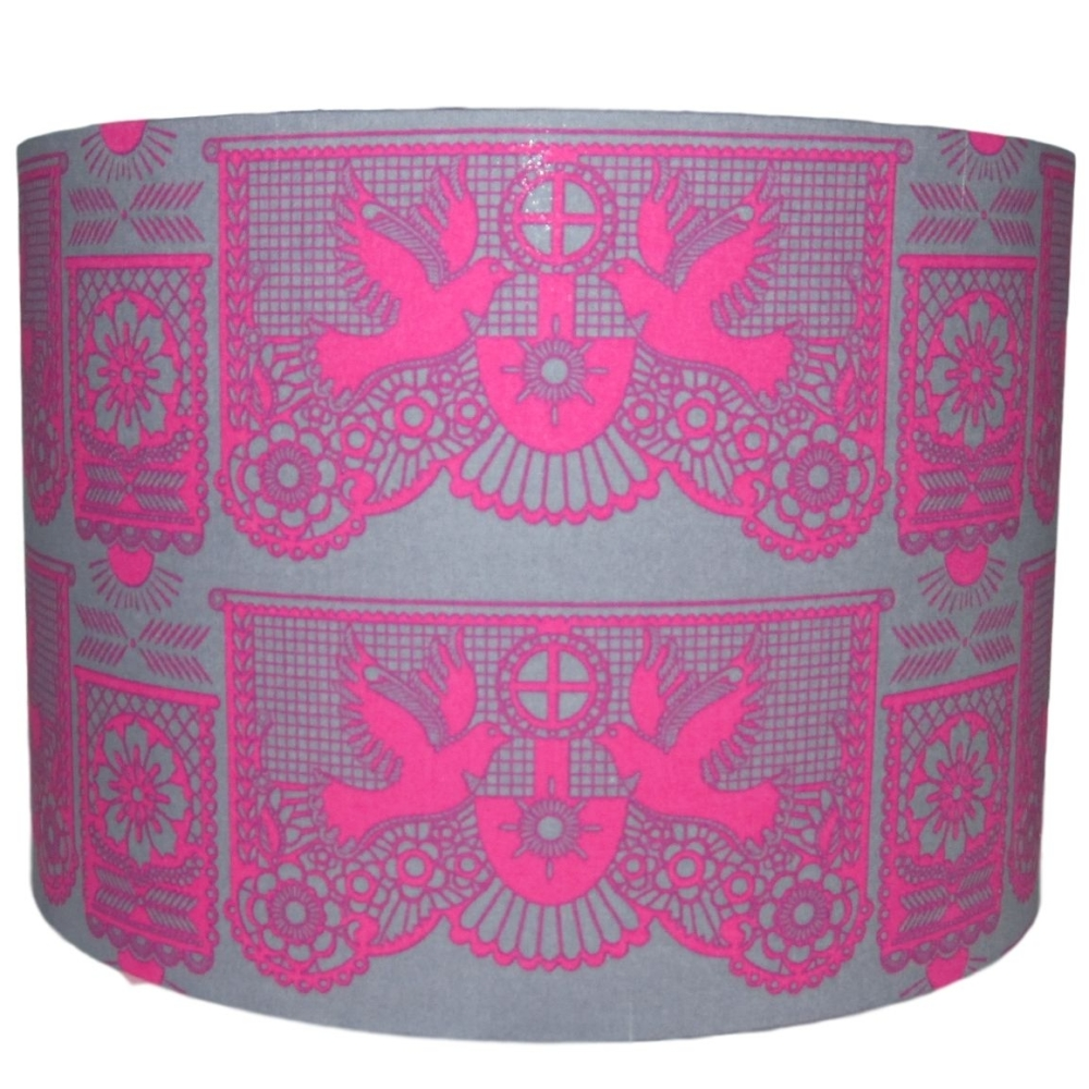 Pink dove 30cm diameter lampshade (ceiling) NOW £29
