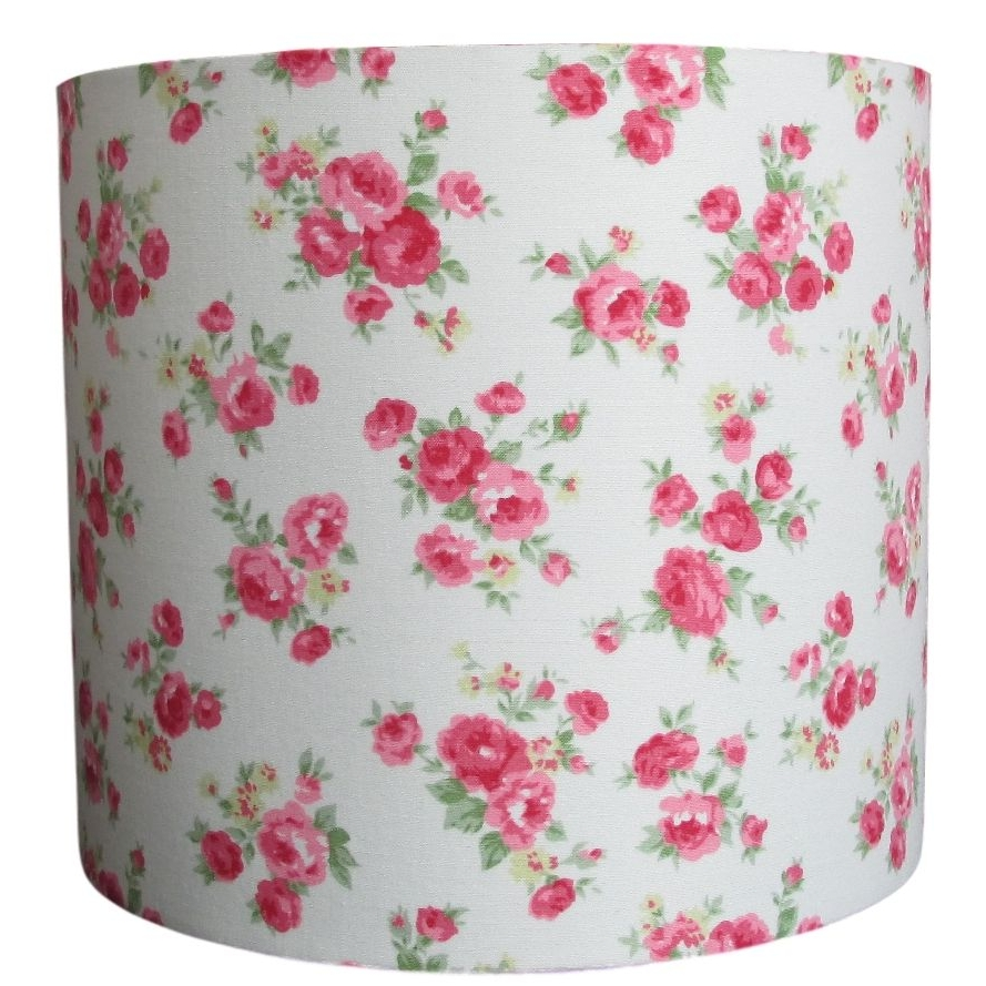 Pink rose pattern 20cm lampshade (for lamp or ceiling) NOW £20