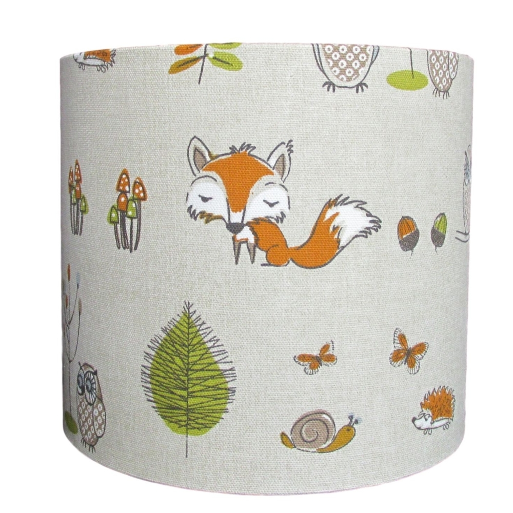 Woodland fox 30cm diameter lampshade (for ceiling) NOW £29.00