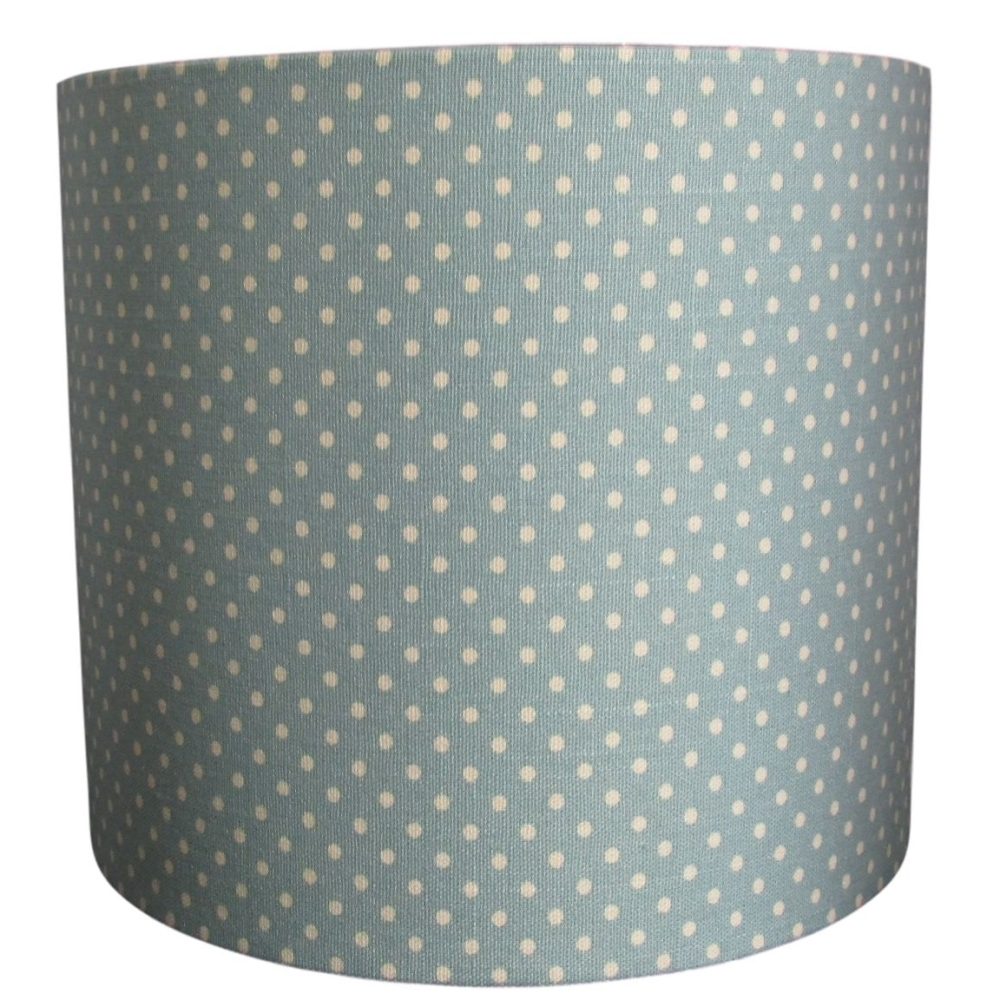 Soft green polka dot 20cm diameter lampshade (lamp or ceiling) NOW £20