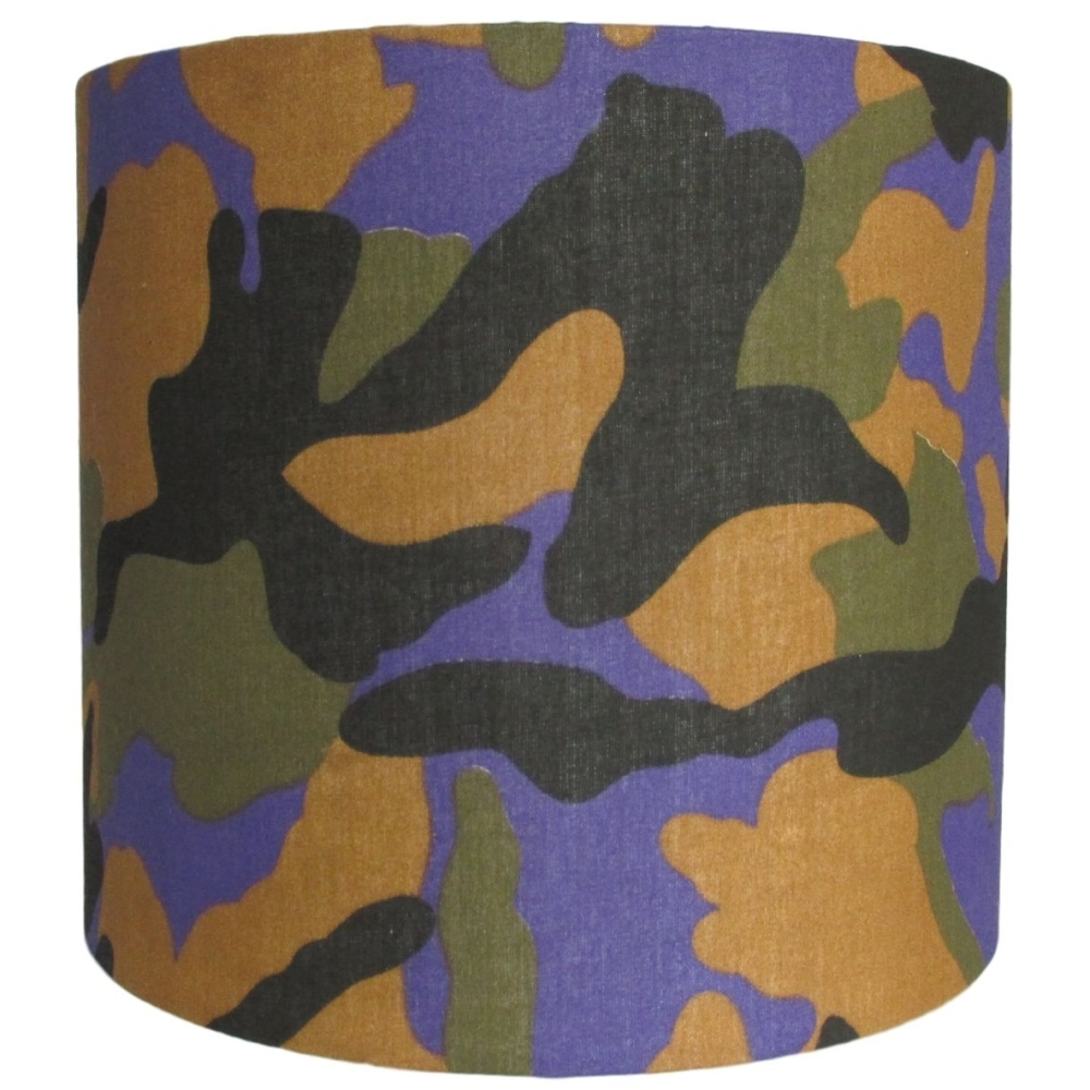 Colourful camo 20cm diameter lampshade (lamp or ceiling) NOW £20