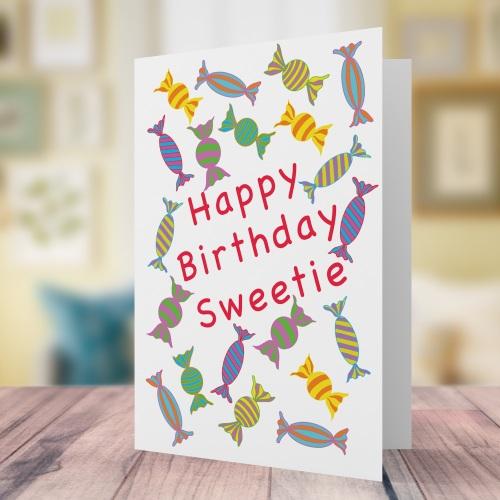 Happy Birthday Sweetie Card