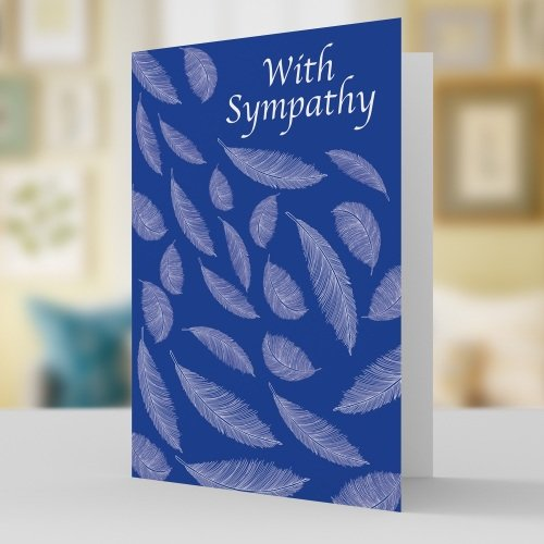 Sympathy floating feather card