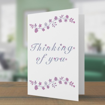 Thinking of you floral swag card