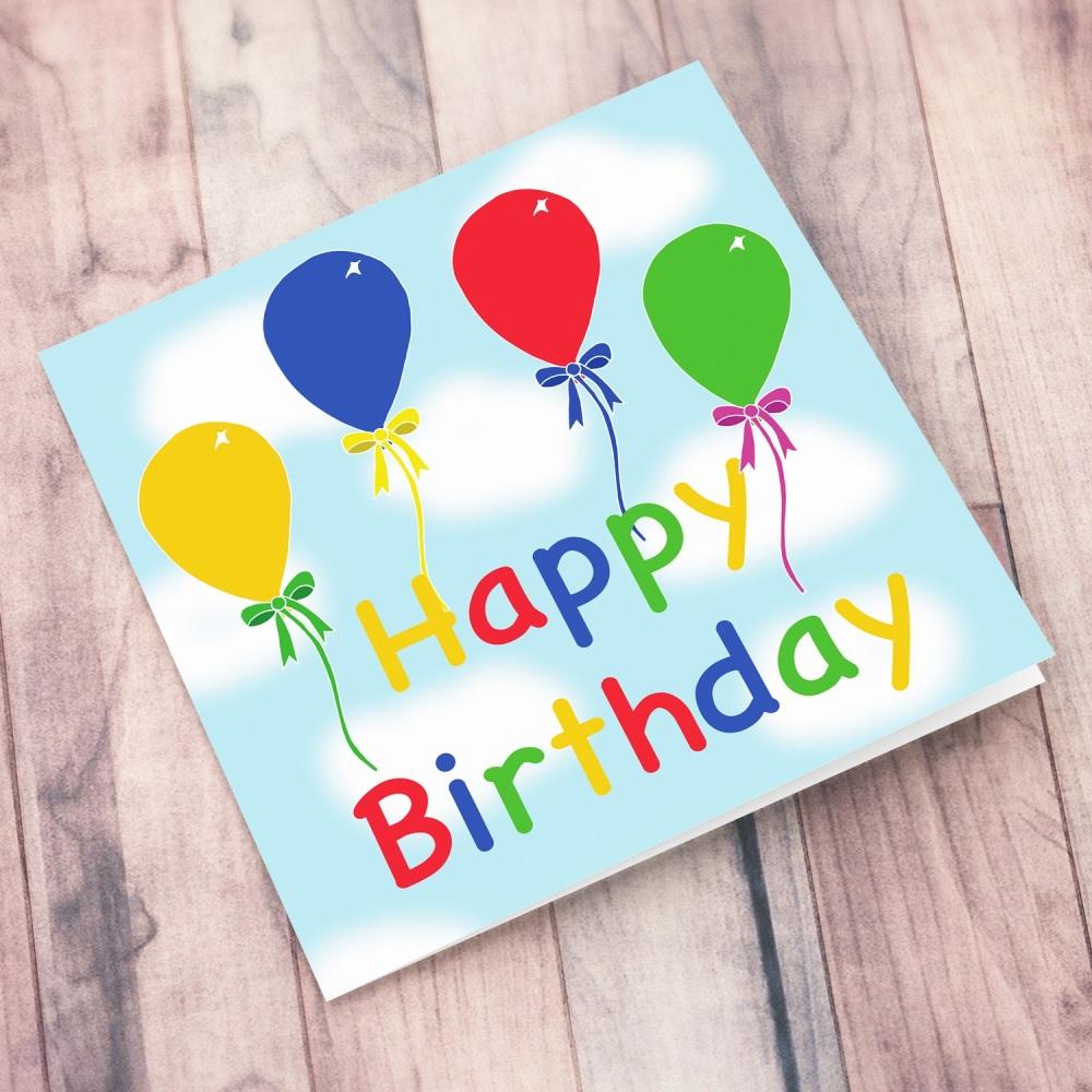 Balloon Happy Birthday Card