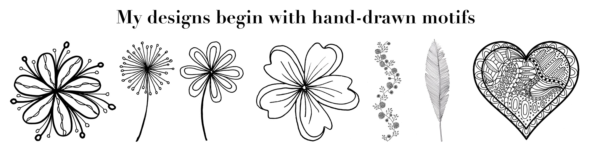 hand drawn motifs