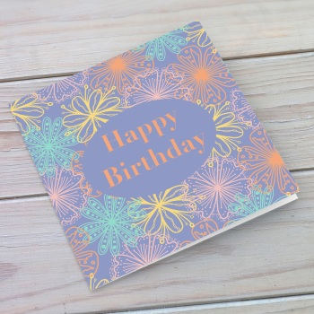 Fabulous flowers birthday card