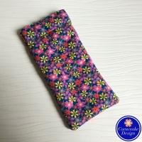 Slim 'Flower Power' Fabric Glasses Case