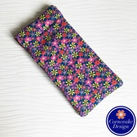 Large 'Flower Power' Fabric Glasses Case