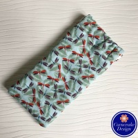 Large 'Dashing Dragonflies' Fabric Glasses Case