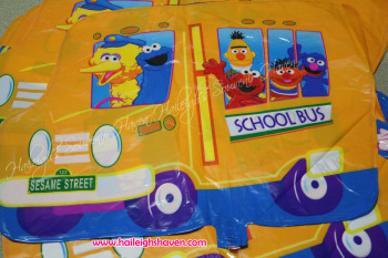 BALLOON (DIE-CUT): SESAME STREET SCHOOL BUS