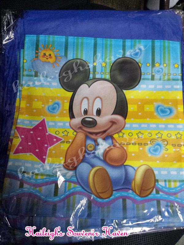 Baby Mickey Mouse Drawstring Bag (Big)