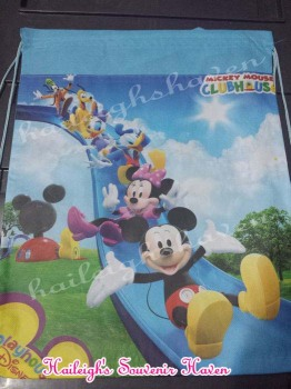 DRAWSTRING BAG (BIG, 12s): MICKEY AND MINNIE (OR W/ FRIENDS)